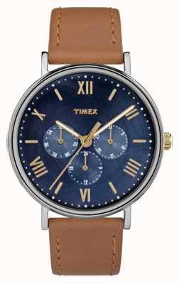 Timex Mens southview multifuncional cronógrafo marrom TW2R29100