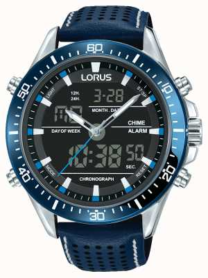 Lorus Mens esporte analógico / digital cronógrafo azul RW643AX9