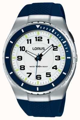 Lorus Mens esporte funcional pulseira de silicone preta R2329LX9
