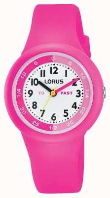 """Lorus Crianças """"passadas"""" """"para"""" assistir silicone rosa RRX99EX9"""