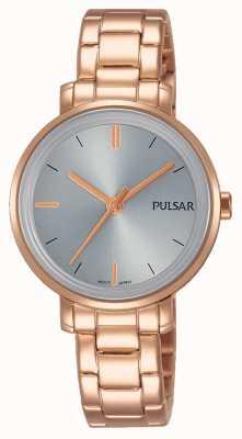 Pulsar Womans subiu pulseira de aço inoxidável pulseira de aço inoxidável PH8362X1