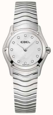 EBEL Relógio clássico de aço inoxidável para mulher 1215421