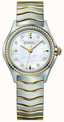 EBEL Relógio de quartzo Wave para senhoras com dois tons 1216351