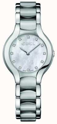 EBEL Womens beluga diamante de aço inoxidável 1216038