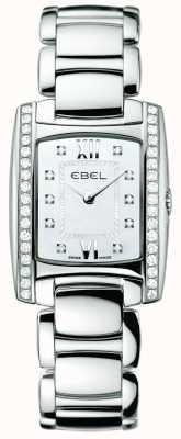EBEL Womens brasilia diamante de aço inoxidável 1215607