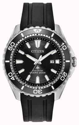 Citizen Mens eco-drive promaster mergulhadores pulseira de borracha BN0190-07E