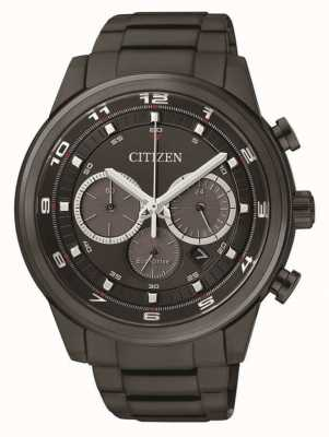 Citizen Mens eco-drive cronógrafo preto ip CA4035-57E