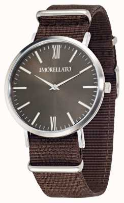 Morellato Mens vela marrom mostrador marrom pulseira de relógio R0151134007
