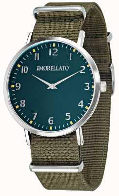Morellato Mens vela verde mostrador / pulseira de relógio R0151134004