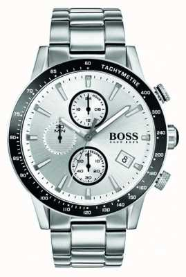 Boss Mens rafale cronógrafo mostrador branco 1513511