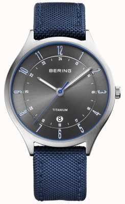Bering Mens ultra leve em titânio em nylon azul 11739-873
