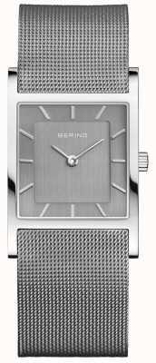Bering Pulseira milanesa prata quadrada clássica da mulher 10426-309-S