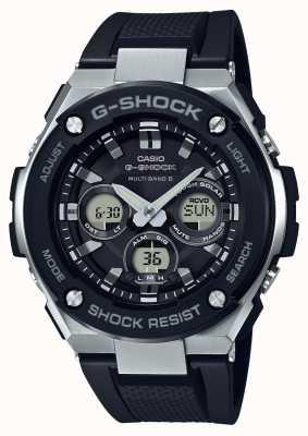 Casio g-choque g aço médio alarme crono preto GST-W300-1AER