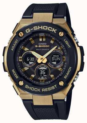 Casio Mens g-choque g-aço resistente relógio solar de ouro GST-W300G-1A9ER