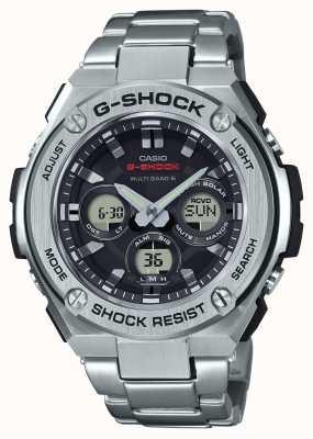 Casio Mens g-choque g-aço de médio porte alarme crono de aço inoxidável GST-W310D-1AER