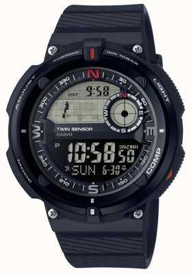 Casio Relógio de tempo de mundo clássico de viagem Mens SGW-600H-1BER