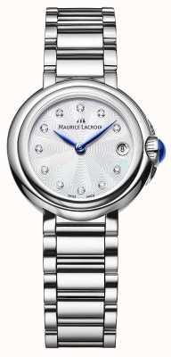 Maurice Lacroix Relógio de pulso feminino fiaba de 28mm com diamantes FA1003-SS002-170-1