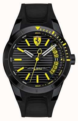 Scuderia Ferrari Relógio de pulseira de silicone preto redrev masculino 0830426