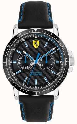 Scuderia Ferrari Pulseira de couro preto Turbo 0830448