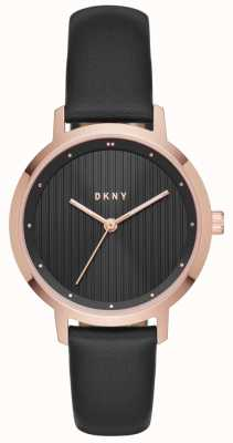 DKNY Womans modernista preto rosa ouro NY2641