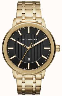 Armani Exchange Mens pulseira de metal de tom de ouro AX1456