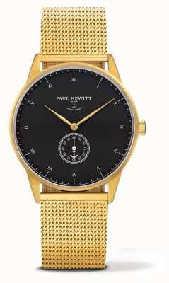 Paul Hewitt Relógio de assinatura unisex | pulseira de malha de aço inoxidável ouro PH-M1-G-B-4M