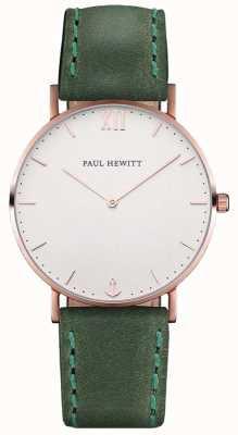Paul Hewitt Cinta de couro verde unisex marinheiro PH-SA-R-ST-W-12M