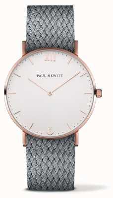 Paul Hewitt Cinta de tecido cinza marinheiro unisex PH-SA-R-ST-W-18M