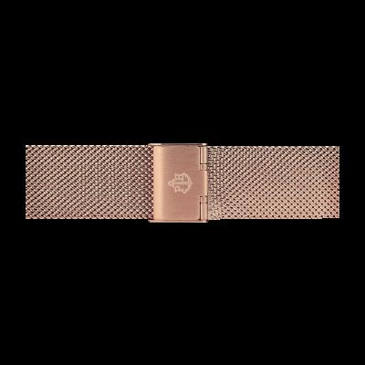 Paul Hewitt Pulseira de malha de aço inoxidável rosa ouro 186mm PH-M1-R-4M