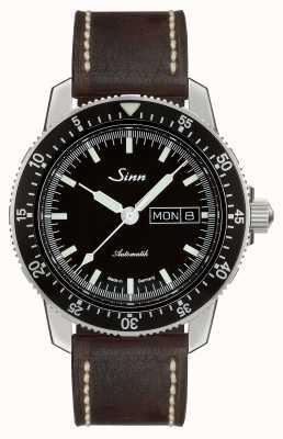 Sinn 104 st sa i clássico piloto assistir couro marrom escuro vintage 104.010 BROWN VINTAGE LEATHER