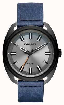 Diesel Mens fastbak denim-look pulseira de couro DZ1838