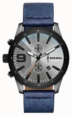 Diesel Mens crono grossa denim-look assistir DZ4456