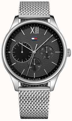Tommy Hilfiger Relógio de malha de aço inoxidável damon para homem 1791415