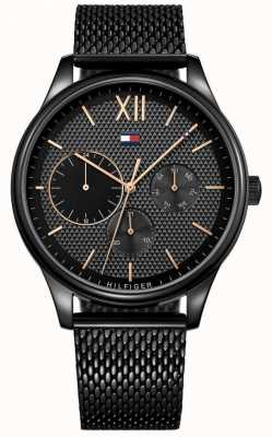 Tommy Hilfiger Relógio Damon Black IP Mesh para homem 1791420