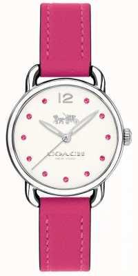 Coach Mulher delancey assistir pulseira de couro rosa 14502906