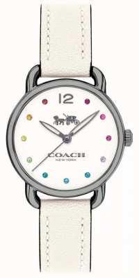 Coach Mulher delancey assistir pulseira de couro branco 14502915