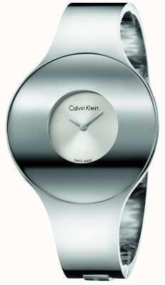 Calvin Klein Meio de relógio sem costura de aço de prata da mulher K8C2M116