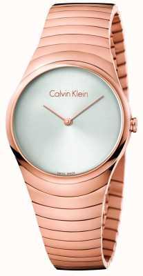 Calvin Klein Womans rose gold tom aço inoxidável turbilhão relógio K8A23646