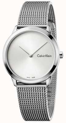 Calvin Klein Womans relógio mínimo mostrador prateado K3M221Y6