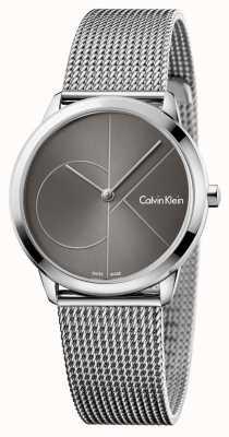 Calvin Klein Womans relógio mínimo mostrador cinza K3M22123
