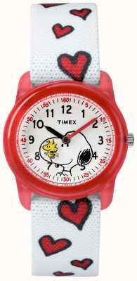 Timex Juventude branca alça branca snoopy corações TW2R41600JE