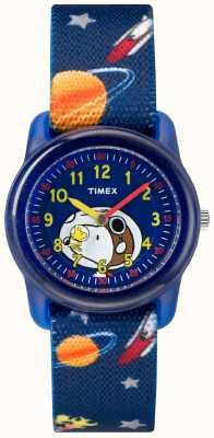 Timex Juventude análogo azul cinta snoopy espaço exterior TW2R41800JE