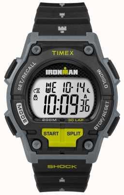 Timex Mens suportar choque 30 lp preto e cal TW5M13800D7PF