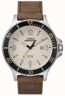 Timex Pulseira de couro Expedition Ranger tom natural TW4B10600D7PF