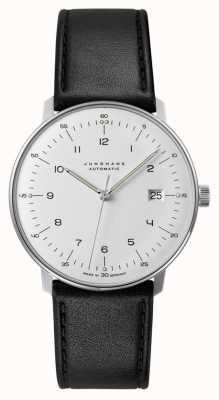 Junghans Conta máxima automática | pulseira de pele de bezerro preto 027/4700.04