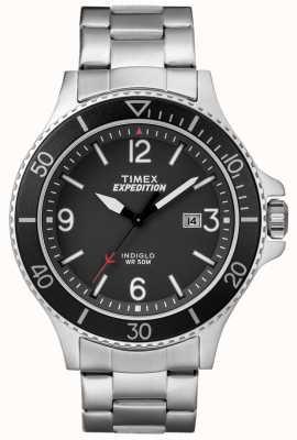 Timex Mens expedição ranger pulseira de metal mostrador preto TW4B10900