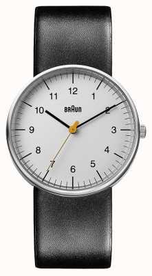 Braun Relógio de couro preto unisex BN0021BKG