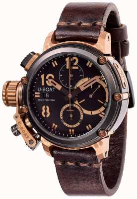 U-Boat Edição limitada chimera 43mm b & b chrono brown leather 8015