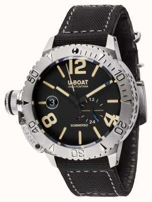 U-Boat Sommerso 46 bk pulseira de borracha / nylon preta automática 9007