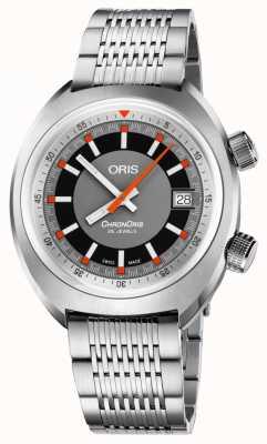 Oris Chronoris date pulseira de aço inoxidável mostrador cinza 01 733 7737 4053-07 8 19 01